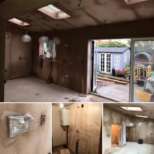 Electrical installation in a kitchen extension in Maghull, Liverpool - STF Electrical Ltd