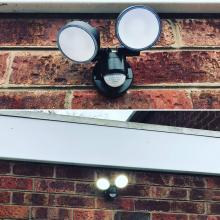 Outside LED security light - STF Electrical Ltd