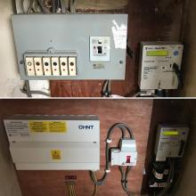 Before and after of a fuseboard replacement in Widnes - STF Electrical Ltd