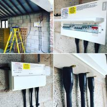 SWA cable feeding portable cabins at a commercial site in Liverpool, Merseyside - STF Electrical Ltd