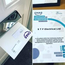 We are a CHAS accredited company - STF Electrical Ltd