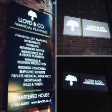 LED shop signage in Southport - STF Electrical Ltd