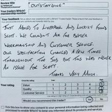 Customer review - STF Electrical Ltd