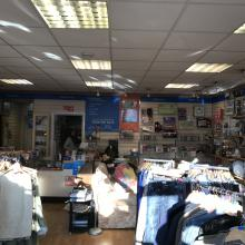 Old Fluorescent Lighting in Charity shop