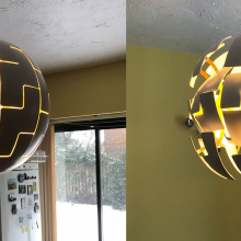 ikea pendant light replacement in dining room