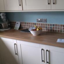 flat plate steel sockets in kitchen